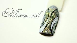 Маникюр. Дизайн ногтей сахарный(мармеладный) маникюр. Гель-краски+блёстки.(В этом видео я покажу еще один всеми любимый дизайн сахарный песок. В данном дизайне я рисовала рисунок..., 2016-04-05T19:46:38.000Z)