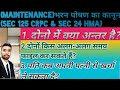 Difference between Sec 125 Crpc & Sec 24 HMA||When Husband is entitled for maintenance from his wife