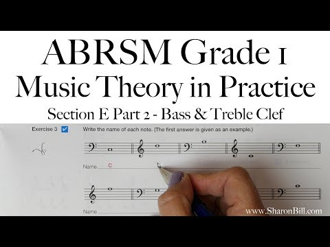 ABRSM Grade 1 Music Theory Section E Part 2 Bass and Treble Clef with Sharon Bill