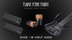EMG 808 18 Volt Mod - Tutorial and 9 Volt Comparison