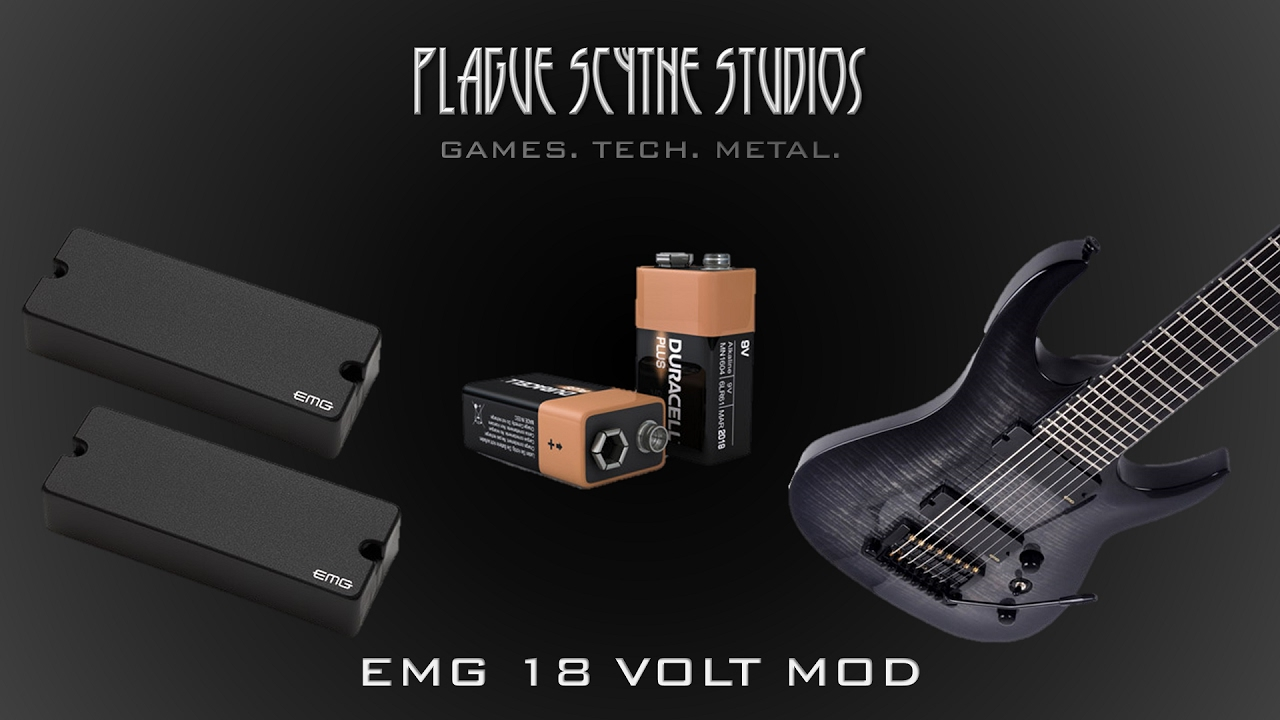 Emg 808 18 Volt Mod Tutorial And 9 Comparison Youtube Framus Guitar Wiring Diagram