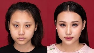 Trang Điểm Khắc Phục Mắt Xếch - Makeup Tutorial for Up-turned Eyes