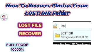 How To Recover Photos From LOST .DIR Folder in hindi by pritam club