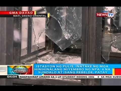 BP: Istasyon ng pulis sa Mati City, Davao Oriental, inatake ng hinihinalang NPA; 6 patay