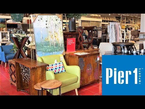PIER 1 IMPORTS FURNITURE ARMCHAIRS HOME DECOR - SHOP WITH ME SHOPPING STORE WALK THROUGH 4K