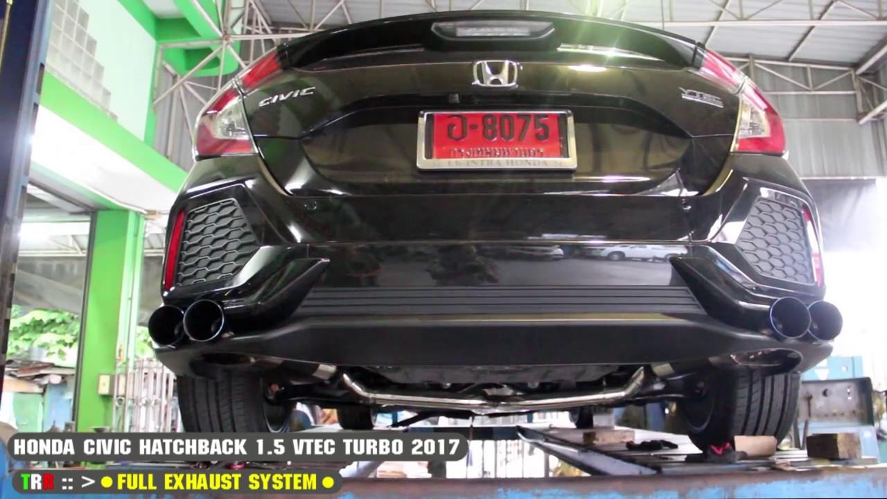 honda new civic 1 5 vtec turbo hatchback 2017 trr full exhaust system. Black Bedroom Furniture Sets. Home Design Ideas