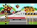 新幹線と踏切のこどもアニメ | ひかりレールスター | train and crossing Kids video