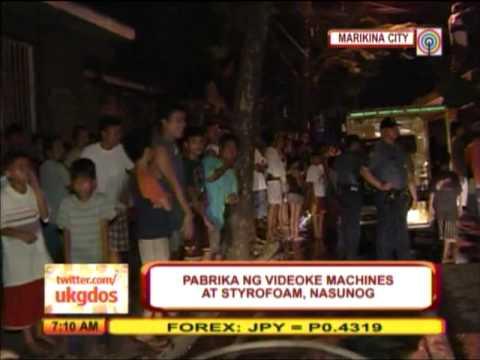 Fire hits karaoke factory in Marikina