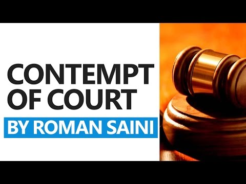 Contempt of Court: Daily Lectures by Roman Saini [UPSC CSE/IAS, State PSC, SSC CGL]