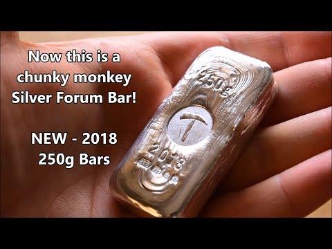 New for 2018 - 250g Silver Forum Bars - Chunky Monkeys!