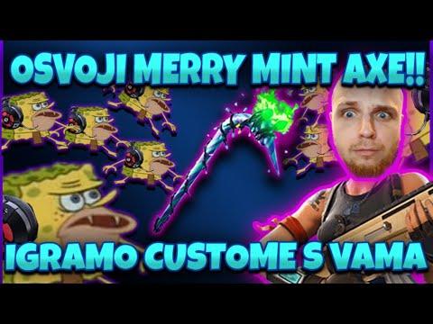 Fortnite Solo/Duo Custom Game Za MINTY PICKAXE  + Minty Giveaway U Chat | Egamer Prasica