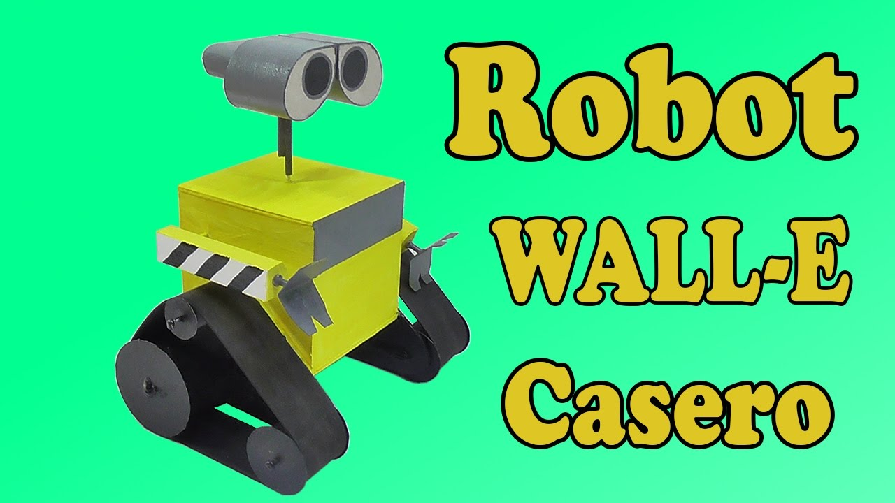 c mo hacer robot wall e muy f cil de hacer youtube. Black Bedroom Furniture Sets. Home Design Ideas