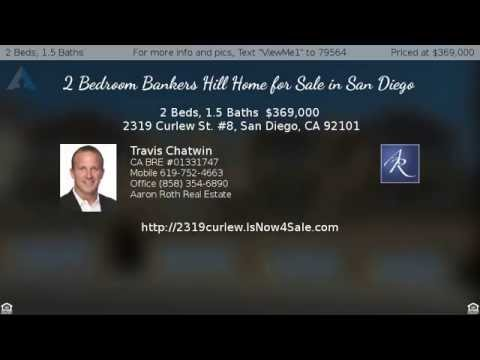2 Bedroom Bankers Hill Home for Sale in San Diego