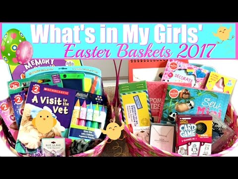 WHAT'S IN MY GIRLS' EASTER BASKETS 2017 | 13 & 7 YEARS OLD! | WATCH ME FILL THEM!