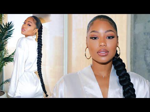 jumbo-braid-ponytail-using-braiding-hair-|-how-to