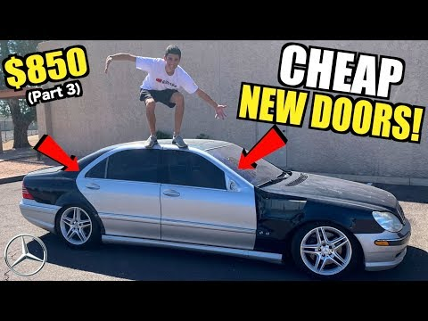 Rebuilding My TOTALED $850 V12 Mercedes S600 For Cheap! (Part 3)