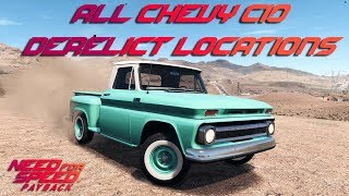 Need For Speed Payback - All Chevy  C10 Derelict Locations