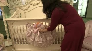 How To Make Cute Nursery Bedding Without Bumpers : Designing A Nursery