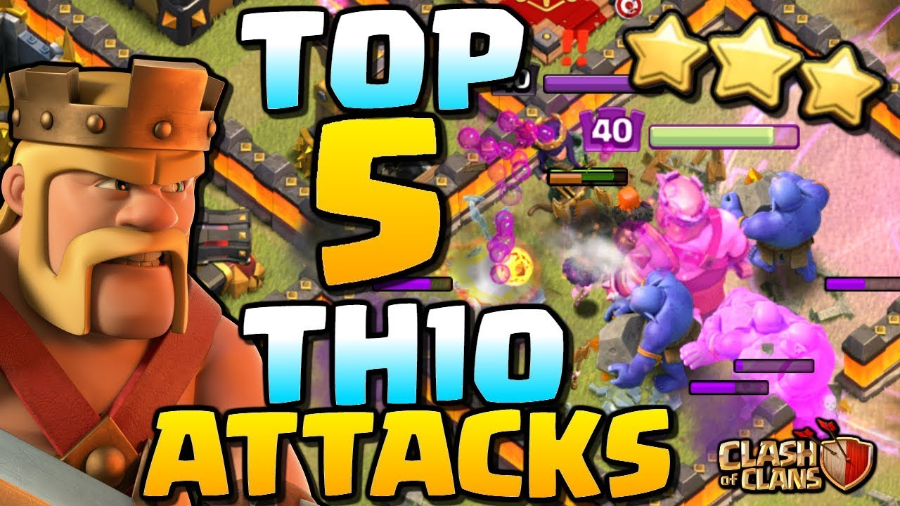 BEST TH10 ATTACK STRATEGY POST UPDATE | Top 5 Town Hall 10 Attacks in CoC | Clash of Clans