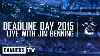 Deadline Day 2015 with Jim Benning (Mar. 02, 2015)
