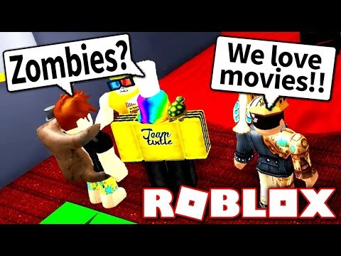 THE CREW ESCAPES THE ZOMBIE MOVIE?! (Roblox Obby)