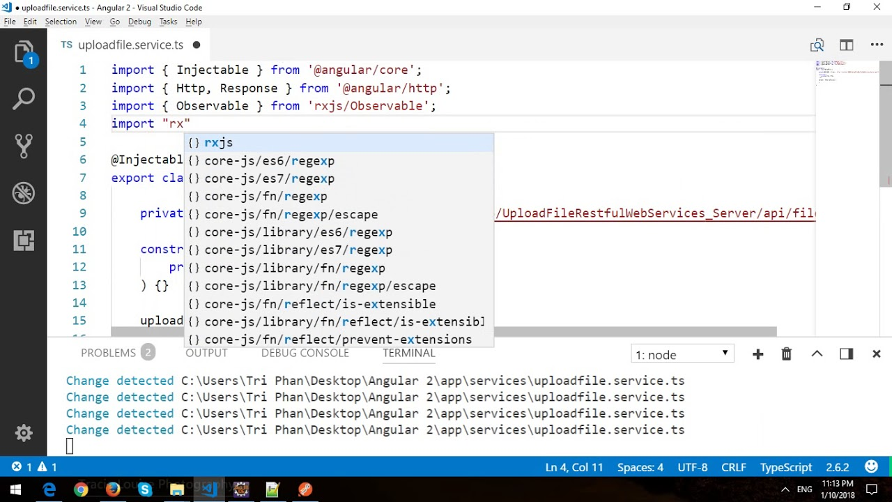 Export To Excel In Angular 2