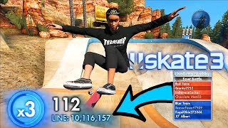 Skate 3 WORLD RECORD LINE 10.1 Million | X7 Albert Challenges You - Episode 6