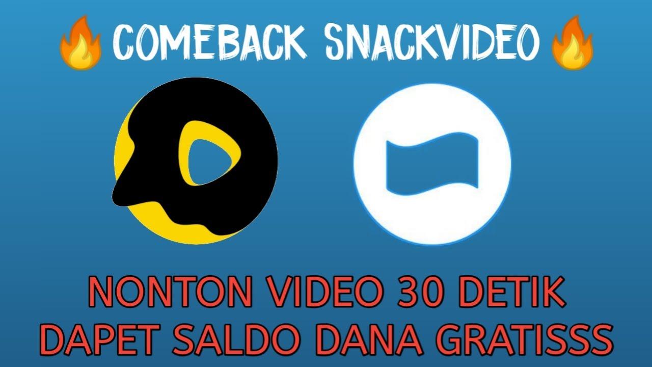 COMEBACK!!! NONTON VIDEO BISA MENDAPATKAN SALDO DANA, PULSA & KUOTA GRATISSSS