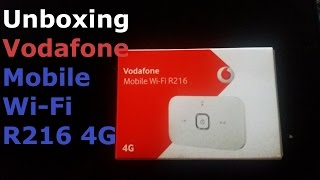 Unboxing Vodafone Mobile Wi-Fi R216 4G