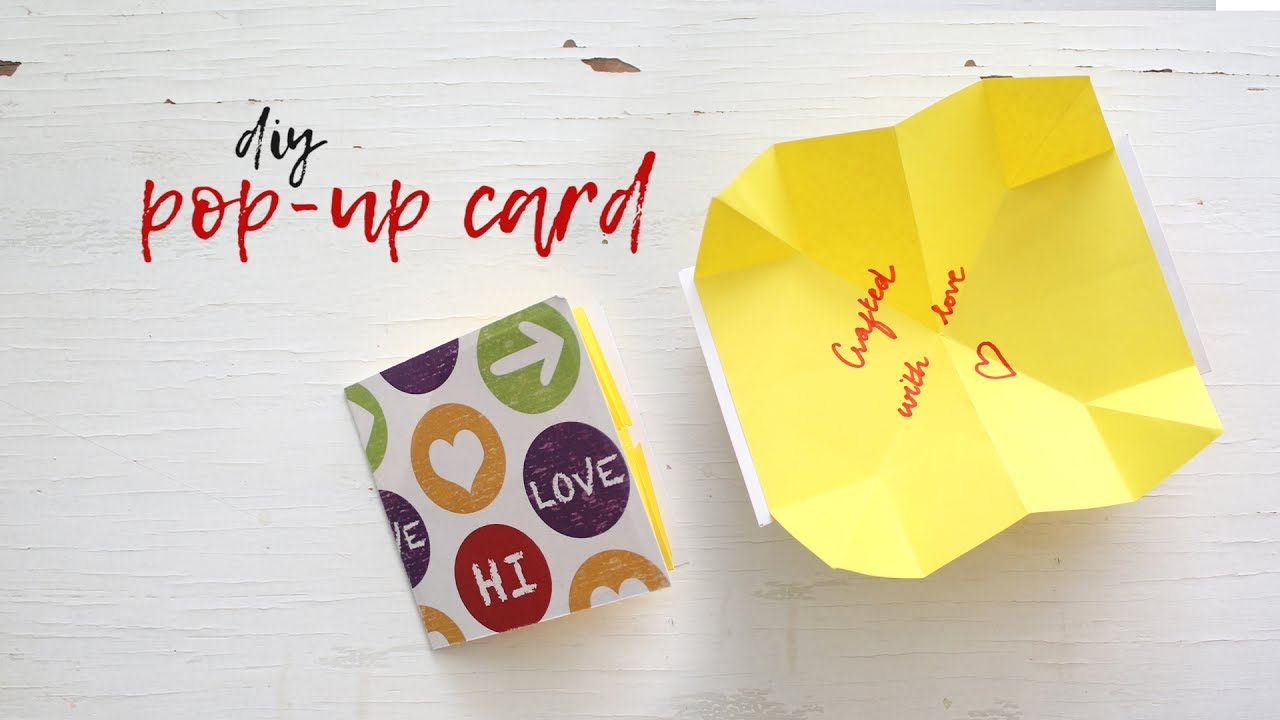 diy popup card  youtube