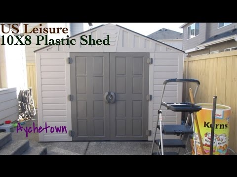 Us Leisure Keter Stronghold 10x8 Plastic Shed Youtube