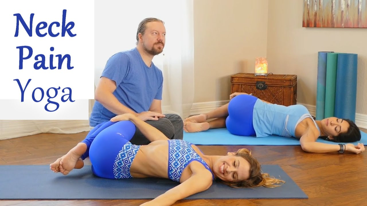 Easy At Home Yoga for Neck Pain & Tense Shoulders ...