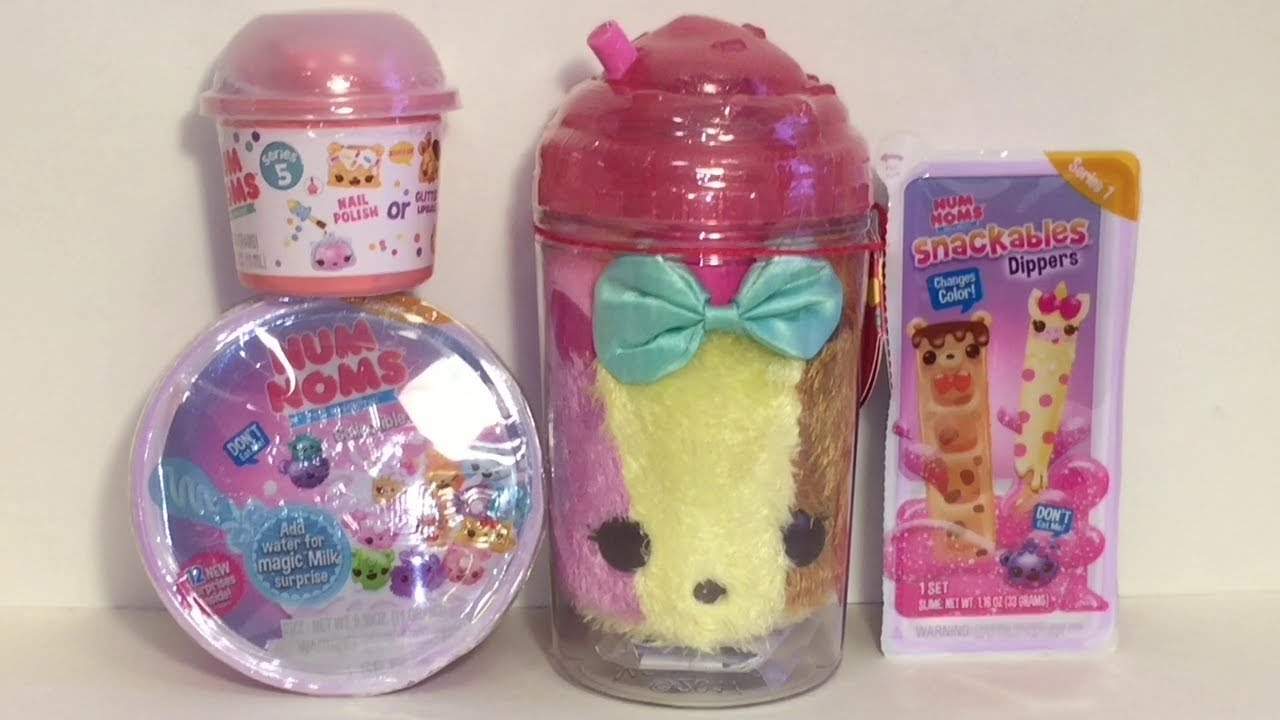 Num Noms Light Up Plush Slime Dippers Snackables Cereal