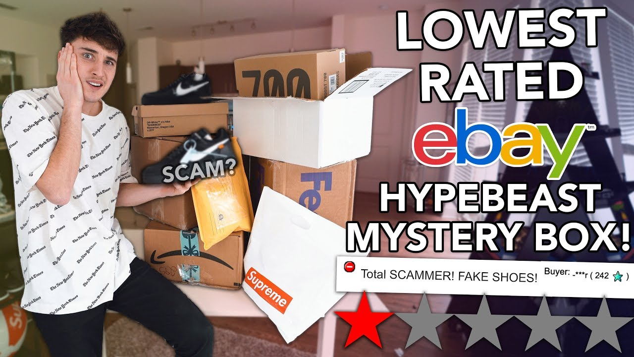 I Bought The Lowest Rated Ebay Hypebeast Mystery Boxes Youtube