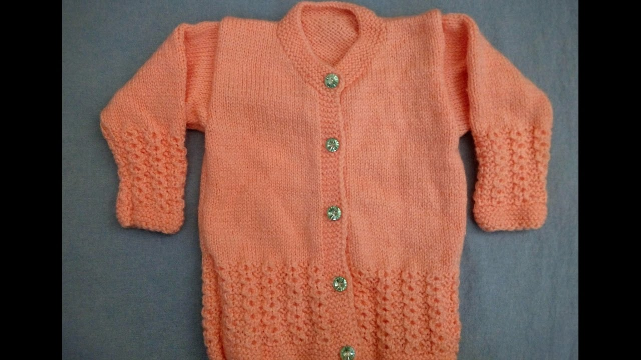 Measurement of Baby Sweater and Knitting Pattern - YouTube