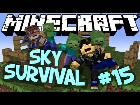 """Minecraft - """"SKY SURVIVAL"""" Part 15: Useless contraptions"""