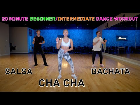 20 Minute Beginner / Intermediate Dance Workout - Salsa, Bachata, Cha Cha, Rumba   Follow Along