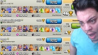 46 KUPA ve 1.2 MİLYON GANİMET - EFSANE LİG SAVAŞLARI - Clash of Clans