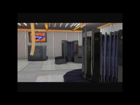 Cray 1 Computer CGI Rendering of a 1976 4 CPU Installation
