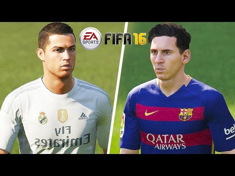 FIFA 16 Gameplay - Barcelona vs Real Madrid [1080p HD 60FPS] El Clasico