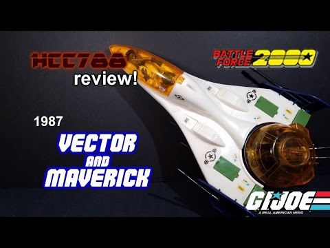 HCC788 - 1987 VECTOR and MAVERICK - Battle Force 2000 - Vintage G.I. Joe toy!