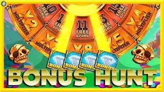 BONUS HUNT: Skulls Up, Safari Gold, Peacock Manor & More Online Slots!