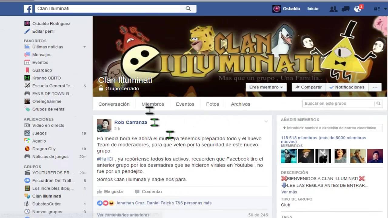 Que Es El Clan Iluminati Hailci Grupo De Facebook Youtube