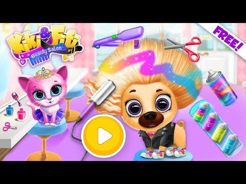 Kiki & Fifi Pet Beauty Salon - Haircut & Makeup - TutoTOONS Games For Kids - Official Trailer