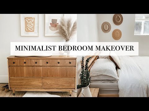 Minimalist Bedroom Makeover (Before & After Room Transformation)