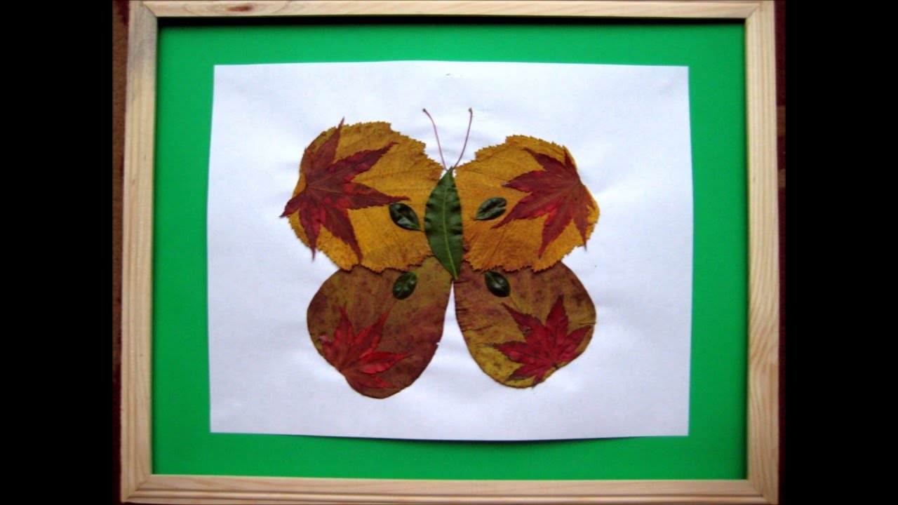 Art and Crafts for Kids: Creative ideas with dry leaves and flowers 1  (Butterflies)