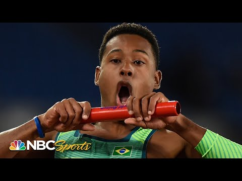 Brazil stuns American men in 4x100 relay final | NBC Sports