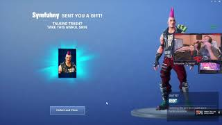 Symfuhny Trolls Tfue By Gifting Him Ugliest Skin In Fortnite!