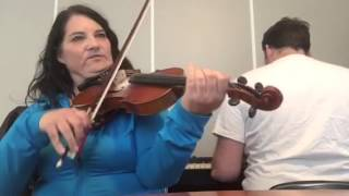 Day 117 - Shades of Dawn - Patti Kusturok's 365 Days of Fiddle Tunes