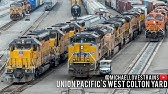 4K - Union Pacific Freight Train Operations at the West Colton Yard